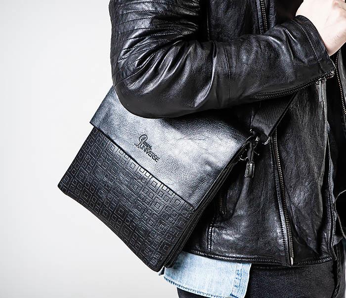 BAG559-1-2 Кожаная сумка планшет для города фото 03