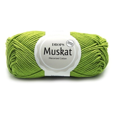 Пряжа Drops Muskat 53 яблочно-зеленый