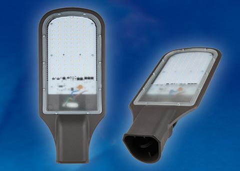 ULV-R22H-100W/DW IP65 GREY Светильник светодиодный уличный консольный. Дневной белый свет (6500K). Угол 110 градусов. TM Uniel.