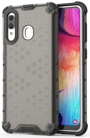 Темный чехол на Samsung Galaxy A20 и A30 от Caseport, серия Honey