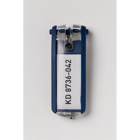 Набор брелков на ключи Durable Key Clip синие (6 штук)