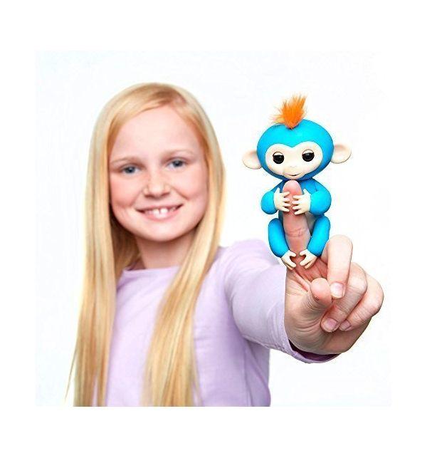 Интерактивная обезьянка Fingerlings Борис синий