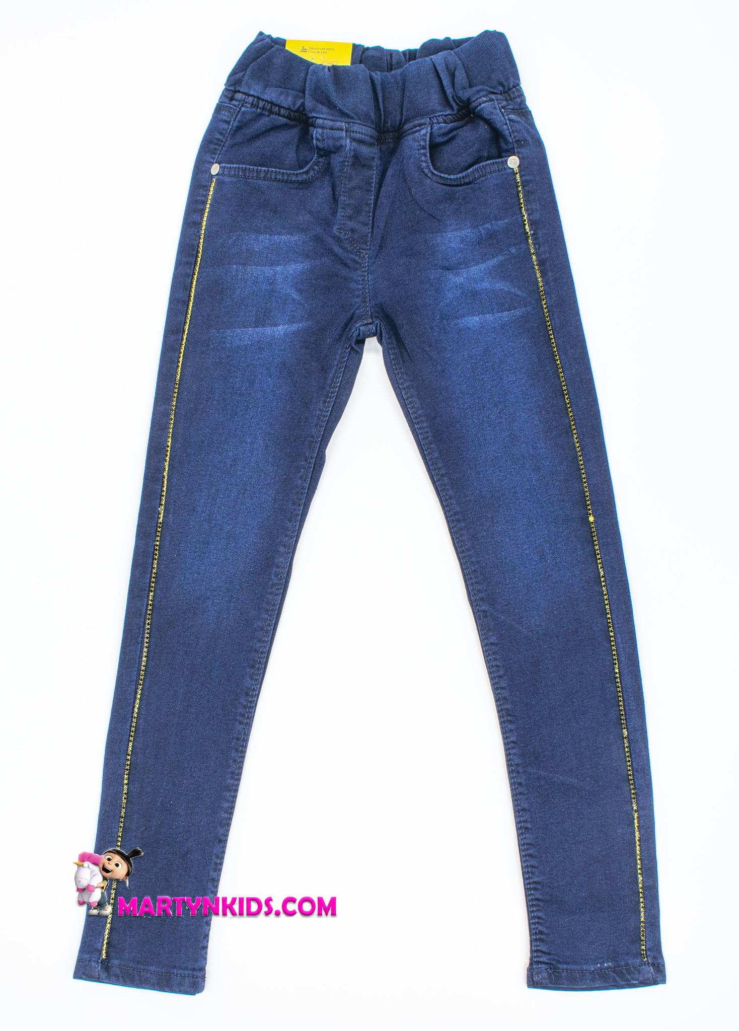 2442  джинсы цепочка кант  стрейч