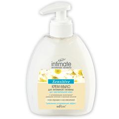 Крем-мыло для интимной гигиены для чувствительной кожи Sensitive, 380 мл. Intimate