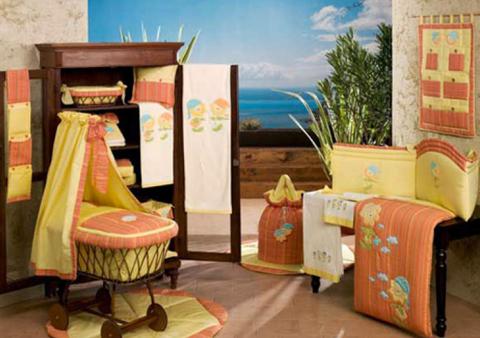 """03L.151BW_AR Комплект в кроватку """"Подсолнухи"""" из коллекции """"4 времени года"""" в  чемодане (стандарт)"""