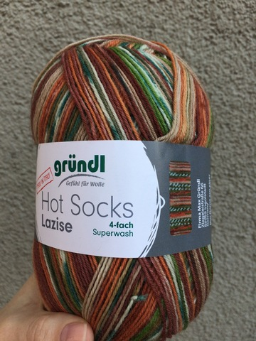 Носочная пряжа Gruendl Hot Socks Lazise 07