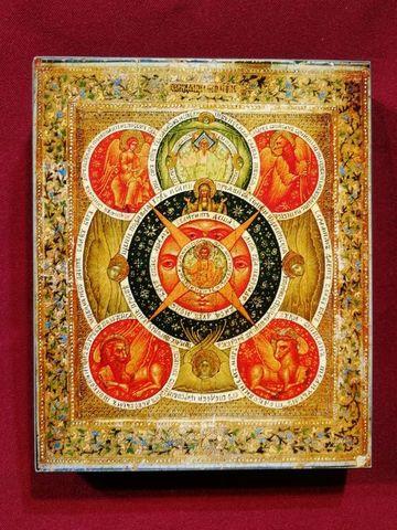 Икона Всевидящее Око Божие на дереве на левкасе мастерская Иконный Дом