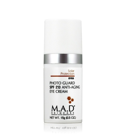 Крем антивозрастной для глаз с защитой SPF 20 M.A.D Skincare Solar Protection Photo Guard SPF20 Anti Aging Eye Cream, 15 гр