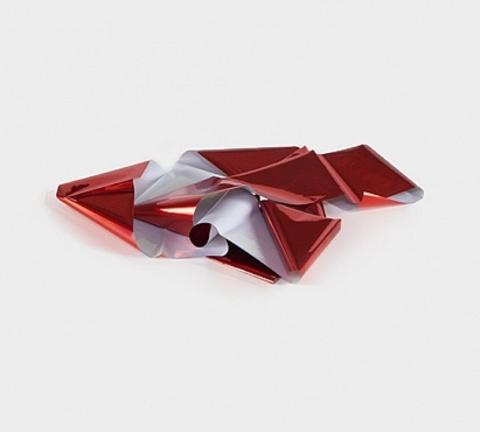 Фольга металлик (красный тонкая) 1м х 5см 07230090