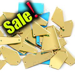 Купить пришивные зеркала золотого цвета Gold в интернет-магазине