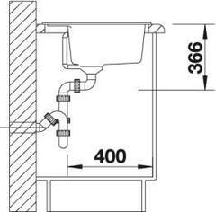 Мойка кухонная Blanco Dalago 6-F Silgranit - вид сбоку
