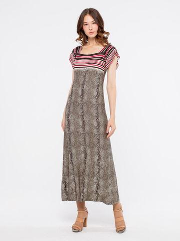 Фото легкое платье с анималистическим принтом, длины миди - Платье З168-437 (1)