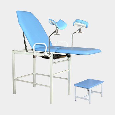 Кресло гинекологическое-урологическое «Клер» с фиксированной высотой модель КГФВ 02п с передвижной ступенькой. - фото