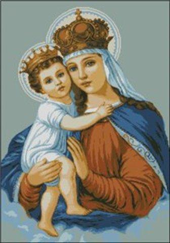 G-582 Святая дева с младенцем