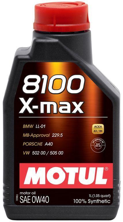 Motul 8100 X-max 0W40 Синтетическое моторное масло