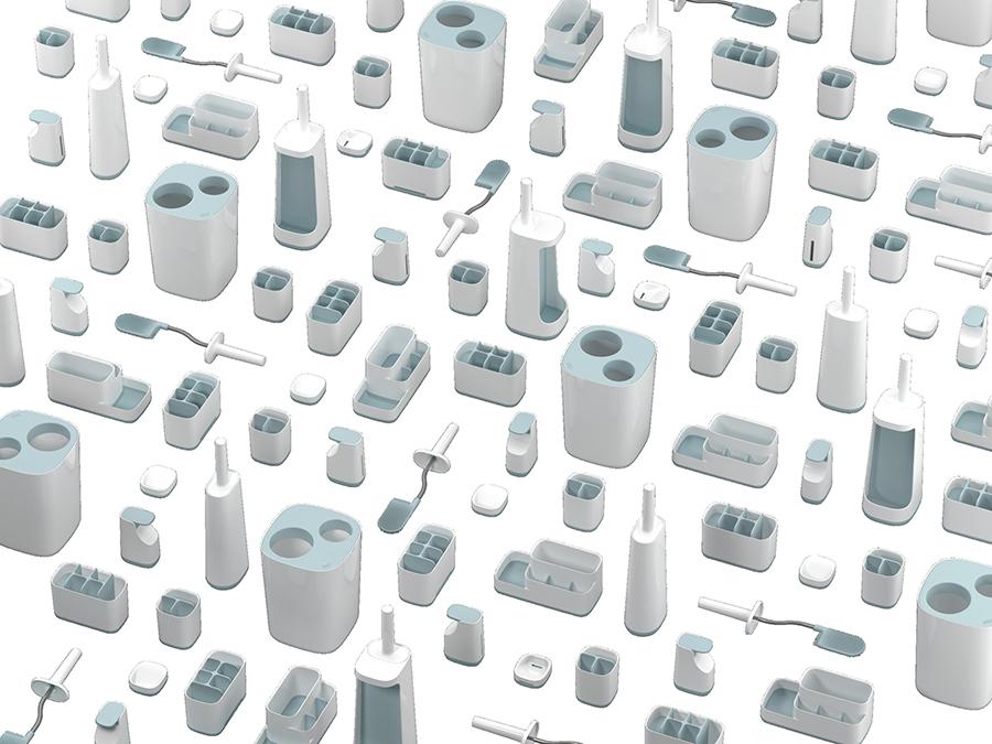 Мыльница для ванной с поддоном Slim™ белая Joseph Joseph 70502 | Купить в Москве, СПб и с доставкой по всей России | Интернет магазин www.Kitchen-Devices.ru