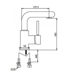 Смеситель KAISER Vico 30011 хром для раковины схема