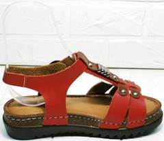 Красные женские босоножки сандали на танкетке Rifellini Rovigo 375-1161 Rad.