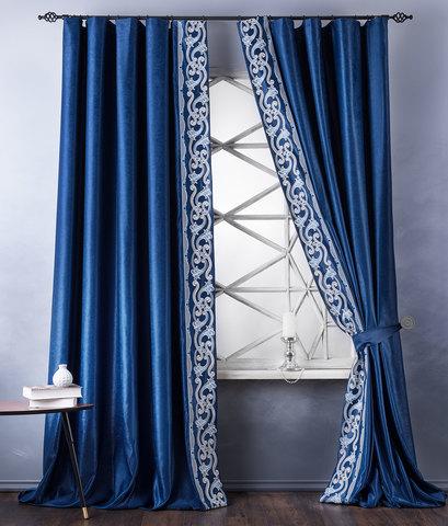 Комплект штор с подхватами Диама синий