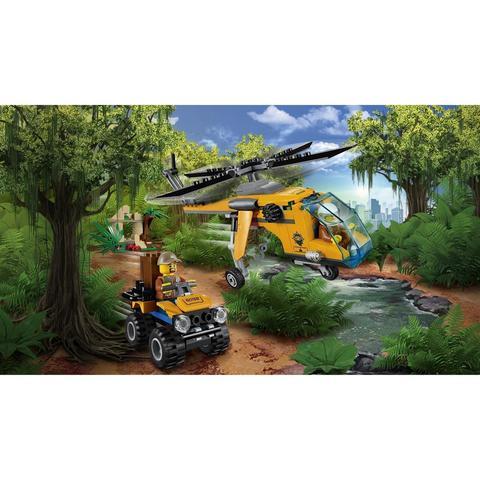 LEGO City: Грузовой вертолёт исследователей джунглей 60158 — Jungle Explorers Jungle Cargo Helicopter — Лего Сити Город