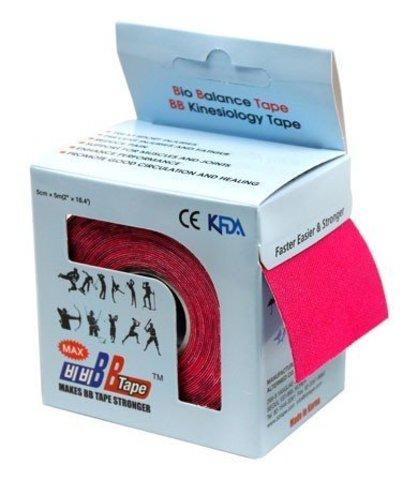 BBtape кинезио тейп 5см х 5м Н2О (розовый)