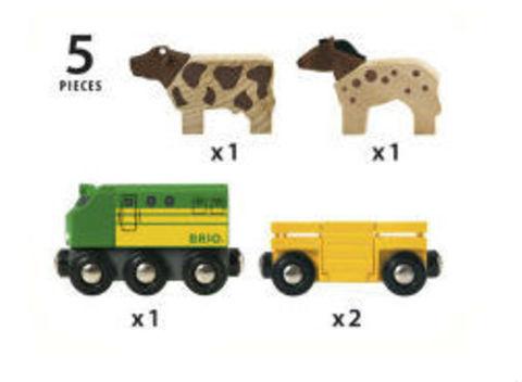 BRIO 33404 Грузовые вагоны с животными