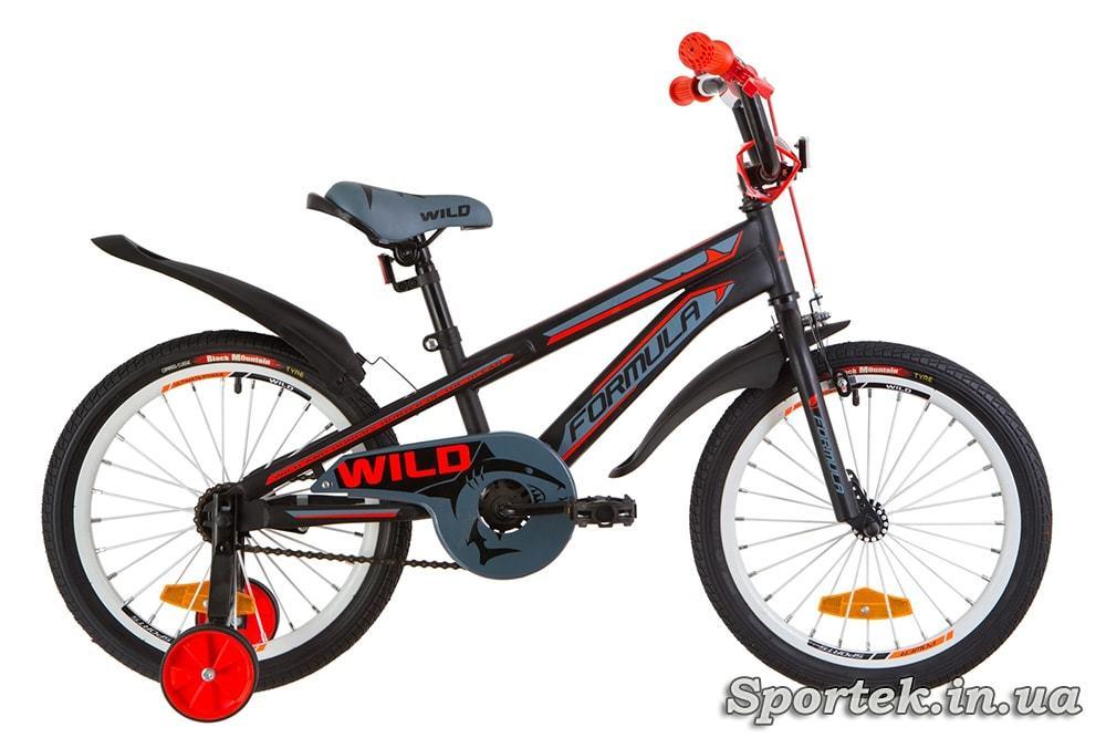 Детский велосипед Formula Wild - черно-красный