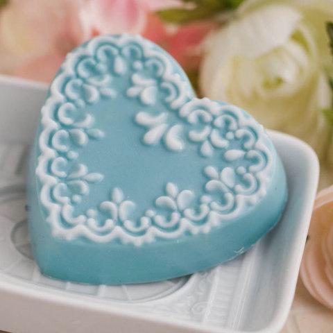 Форма для мыловарения Сердце с орнаментом 2