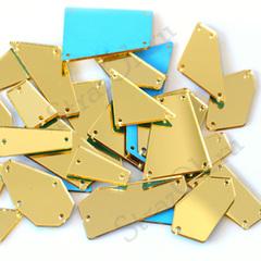 Зеркала акриловые пришивные купить оптом золотые Light Gold