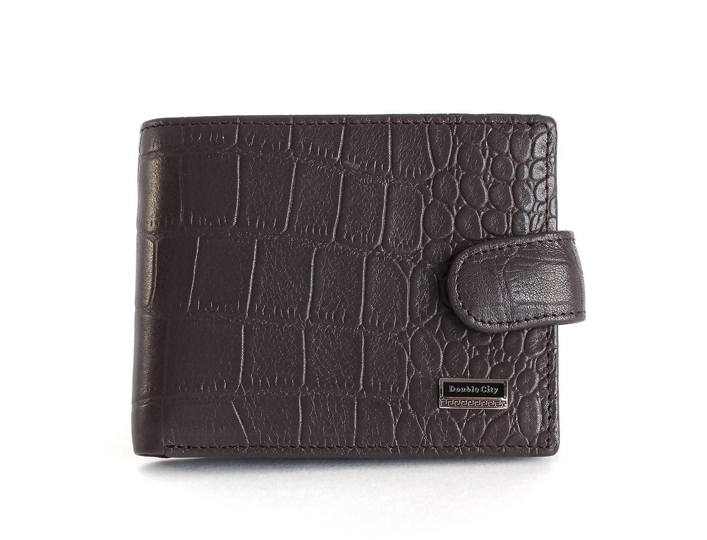 Портмоне тёмно-коричневое с зажимом из натуральной кожи Dublecity 063-DC9-16B