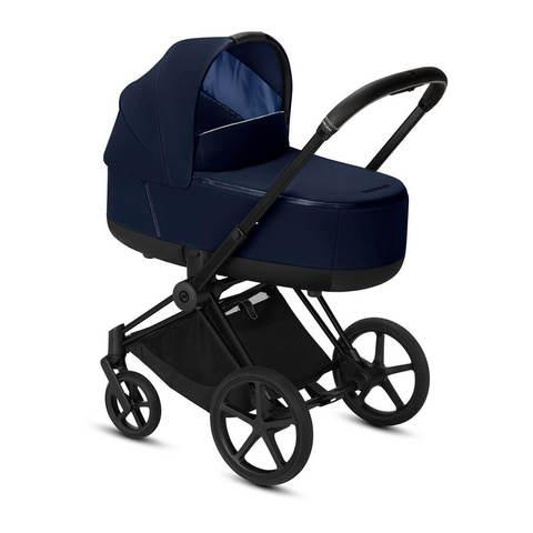 Коляска для новорожденных Cybex Priam III Indigo Blue на шасси Matt Black