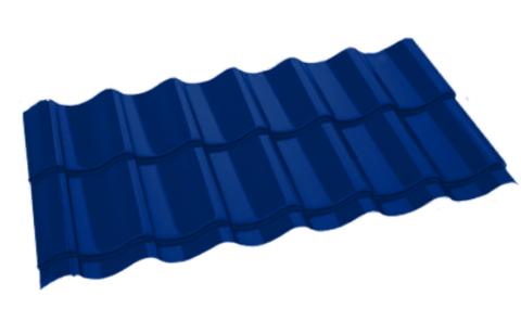 Металлочерепица Арарат Полиэстер RAL 5005 Синий сигнал 0,45 мм