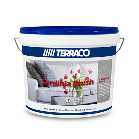 Terraco Sardinia Brush/Террако Сардиния Браш декоративное покрытие в средиземноморском стиле для внутренних работ