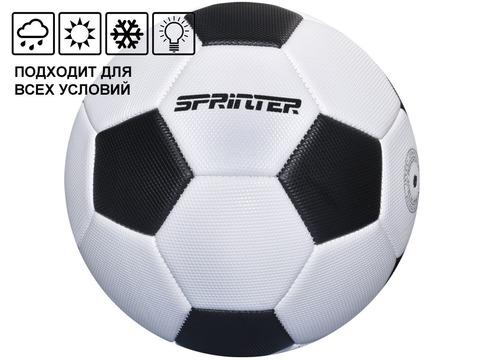 Мяч футбольный SPRINTER. Количество панелей 32 шт. Размер 5. Материал покрышки: штампованная резина. Материал камеры - латекс. FT-SP-40-HB