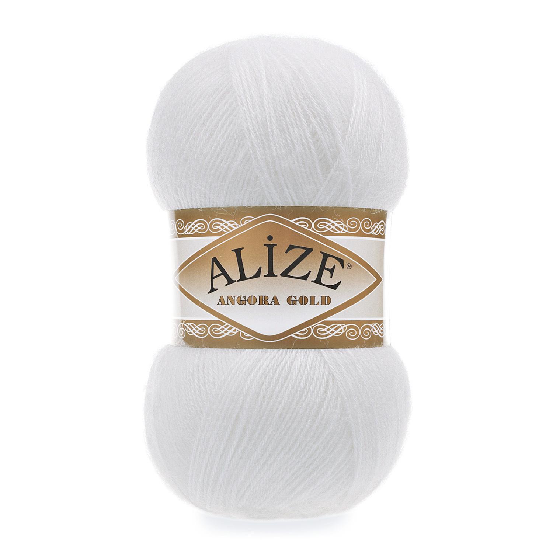 Пряжа Alize Angora Gold 55 белый