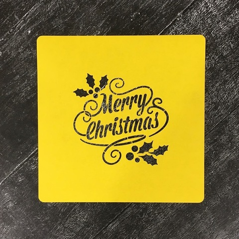 Трафарет новогодний №20 Merry Christmas/Счастливого Рождества