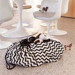Коврик-мешок для игрушек Play&Go Print ЧЕРНЫЙ ЗИГЗАГ 79963