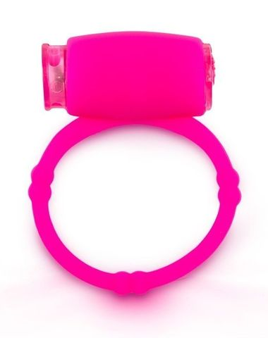 Розовое малоэластичное кольцо на член с вибрацией