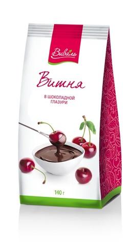 ВИВАЛЬ Вишня в шоколадной глазури 140г