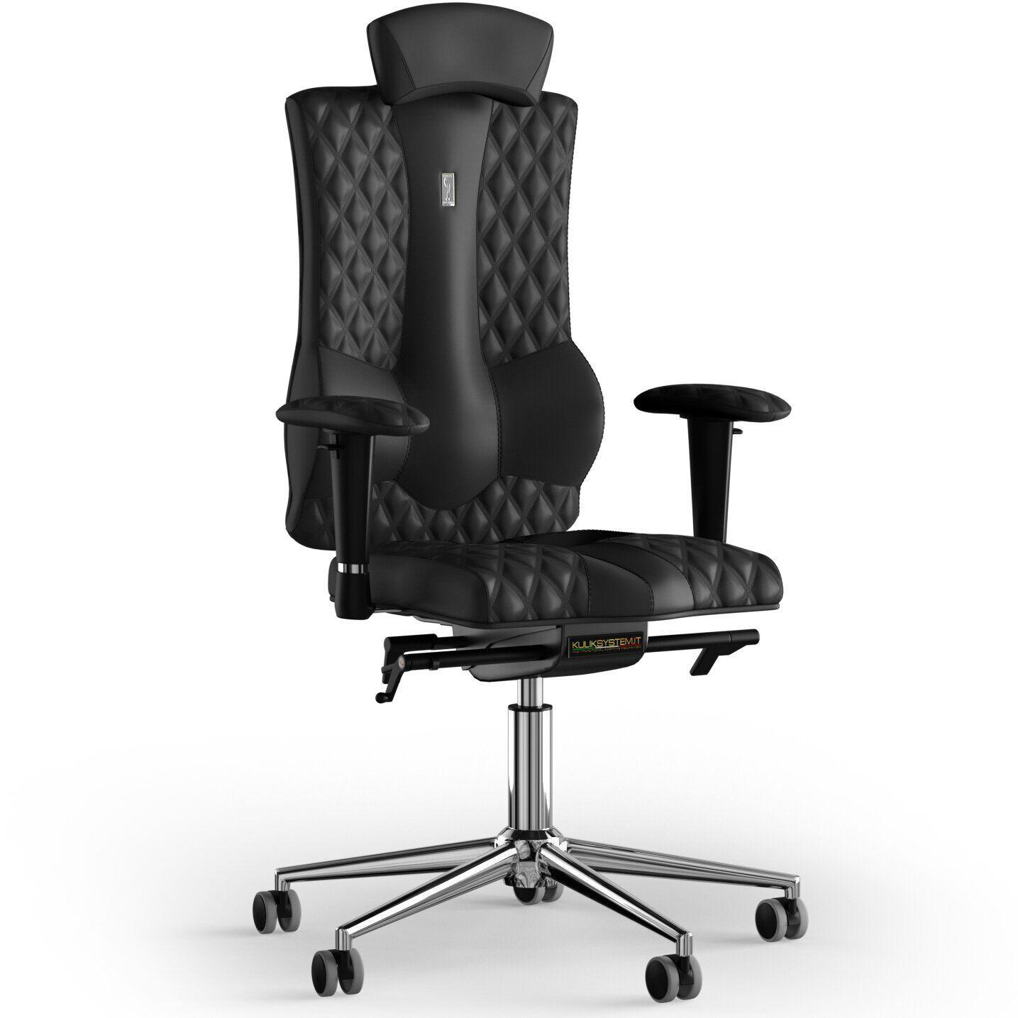 Кресло KULIK SYSTEM ELEGANCE Экокожа с подголовником со строчкой