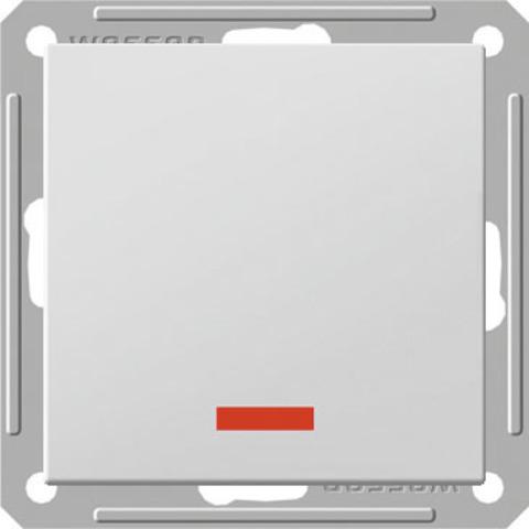 Выключатель одноклавишный с подсветкой, 16АХ. Цвет Белый. Schneider Electric Wessen 59. VS116-153-1-86