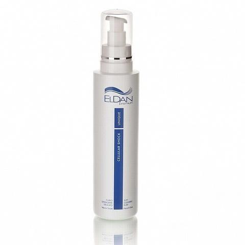Eldan Premium cellular shock soft cleansing fluid face & eyes, Универсальная очищающая жидкость «Premium cellular shock», 250 мл.