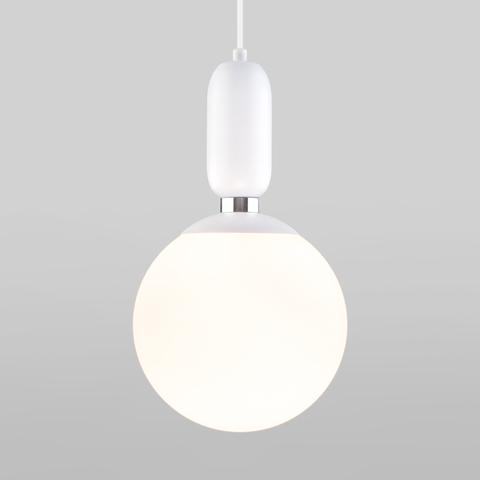 Подвесной светильник со стеклянным плафоном 50197/1 белый