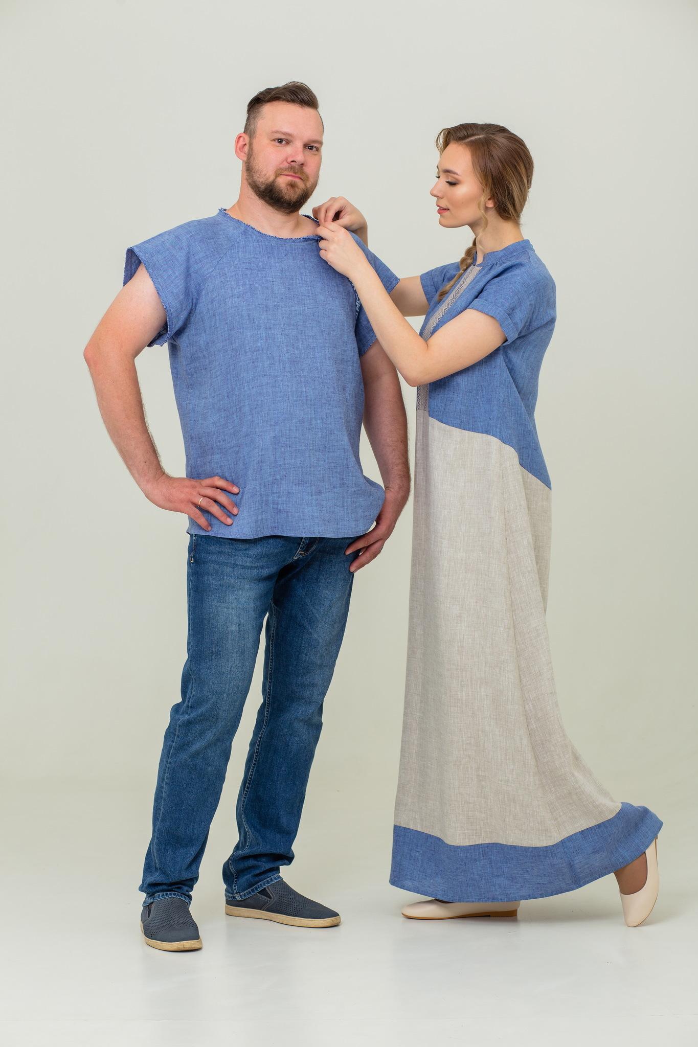 Рубашка футболка и платье в пол