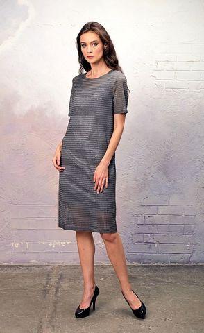 Фото платье с нижним топом прямого силуэта с глиттерным напылением - Платье З346-445 (1)