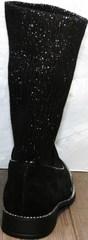 Женские полусапожки на широком каблуке Kluchini 5161 k255 Black
