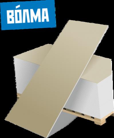 ГКЛВ Волма 12.5 мм, Гипсокартонный лист влагостойкий 1200х2500х12,5