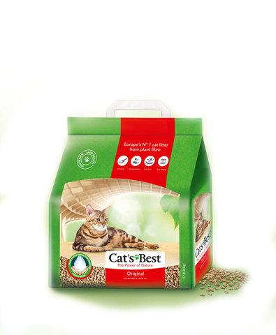 Cat's Best Original наполнитель древесный без запаха 5 л