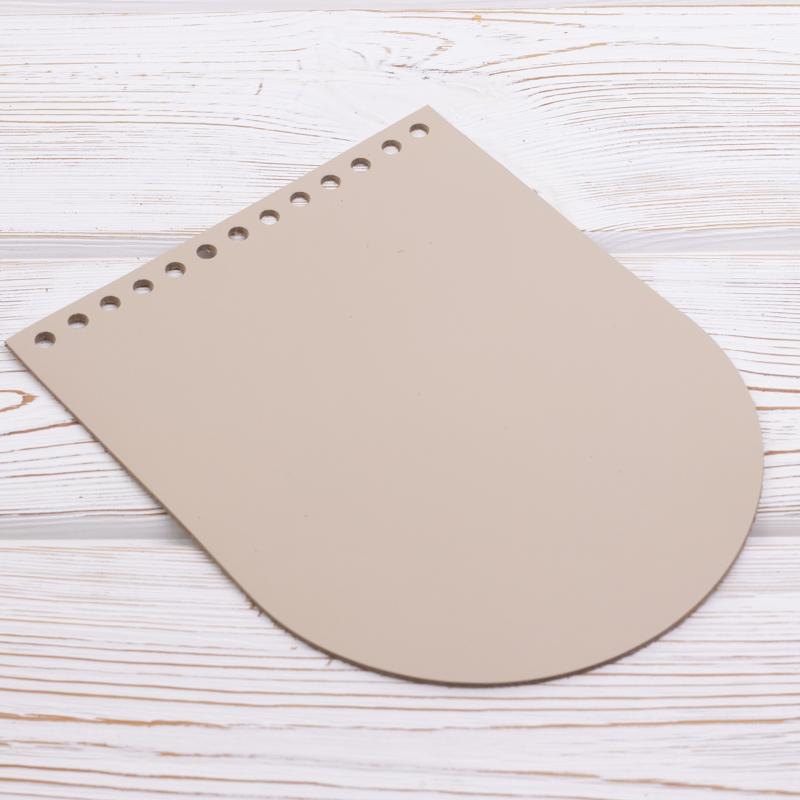 """Клапаны для сумки Клапан для сумочки кожаный """"Кремовый"""" 19,5 см на 15,5 см IMG_6885.jpg"""
