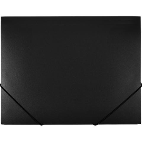Папка на резинках Attache А4 пластиковая черная (0.7 мм, до 200 листов)